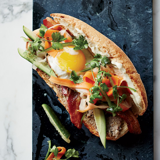 Breakfast Banh Mi Sandwiches