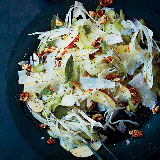 Celery, Fennel and Apple Salad with Pecorino and Walnuts