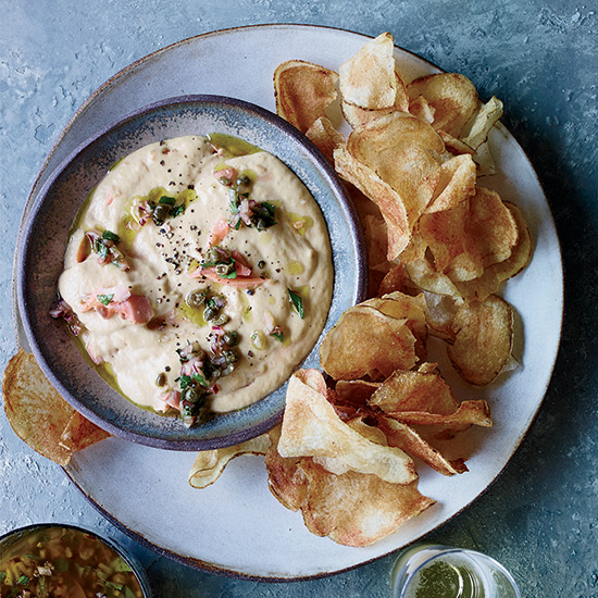 Smoked Trout Dip with Sweet Onion Vinaigrette