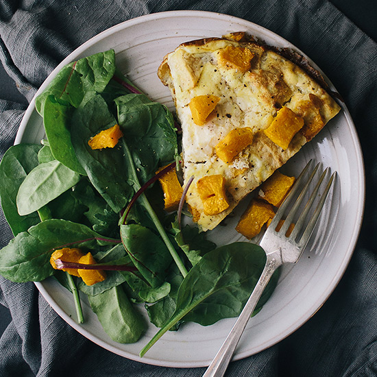 Pumpkin, Ricotta and Apple Frittata