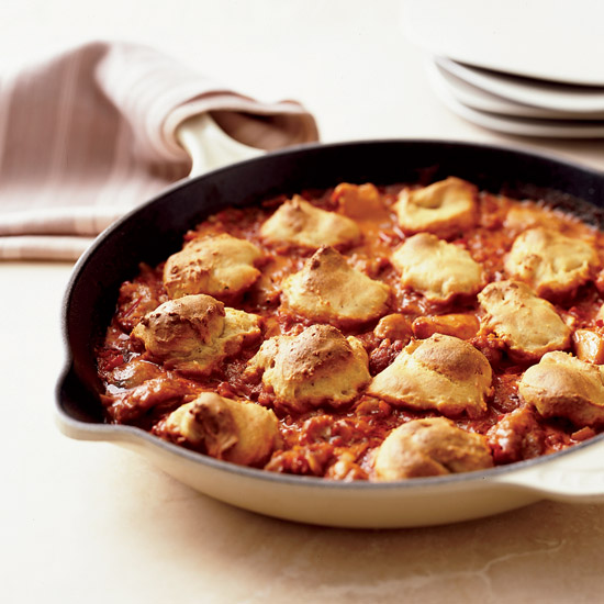 Chicken Goulash with Biscuit Dumplings