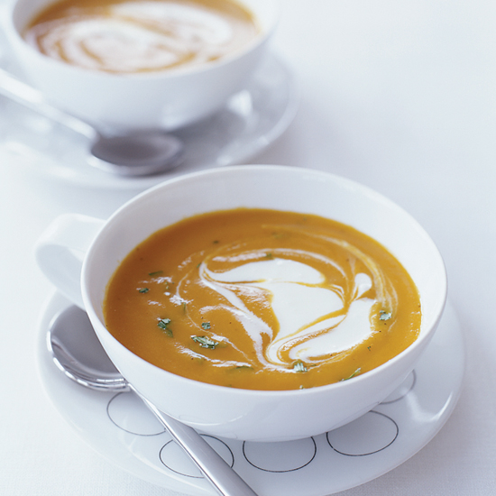 Gingered Carrot Soup with Crème Fraîche