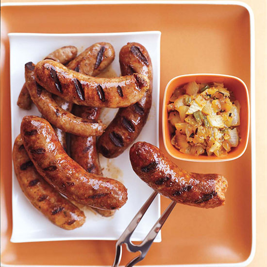 Sausages with Grilled Onion Chowchow