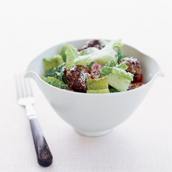 Caesar Salad with Meatballs
