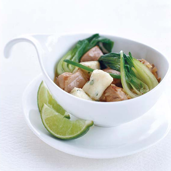 Thai Chicken Stew with Potato-Chive Dumplings