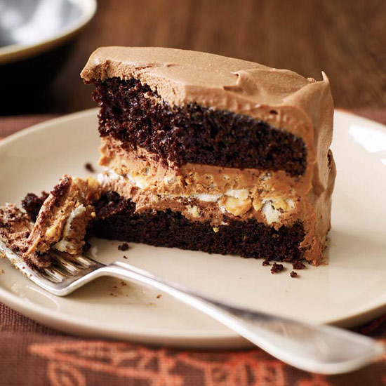 Crunchy Milk Chocolate-Peanut Butter Layer Cake