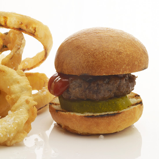 Mini Burgers & Crispy Onion Rings