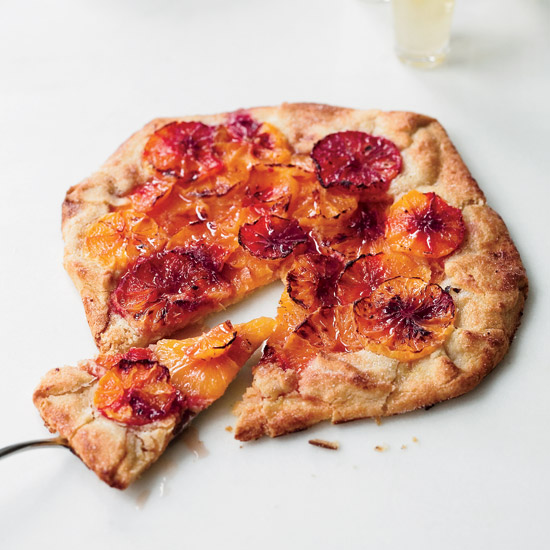 Flaky Blood Orange Tart