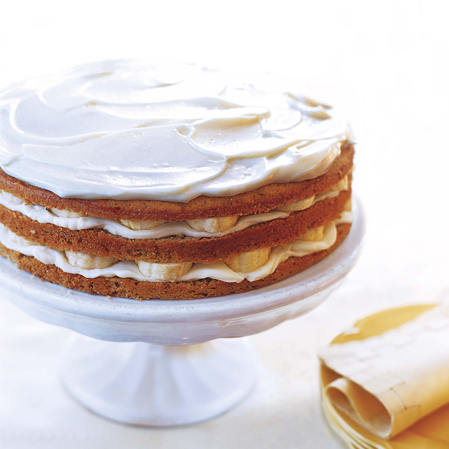 Banana Layer Cake with Mascarpone Frosting Recipe - Lauren Dawson ...