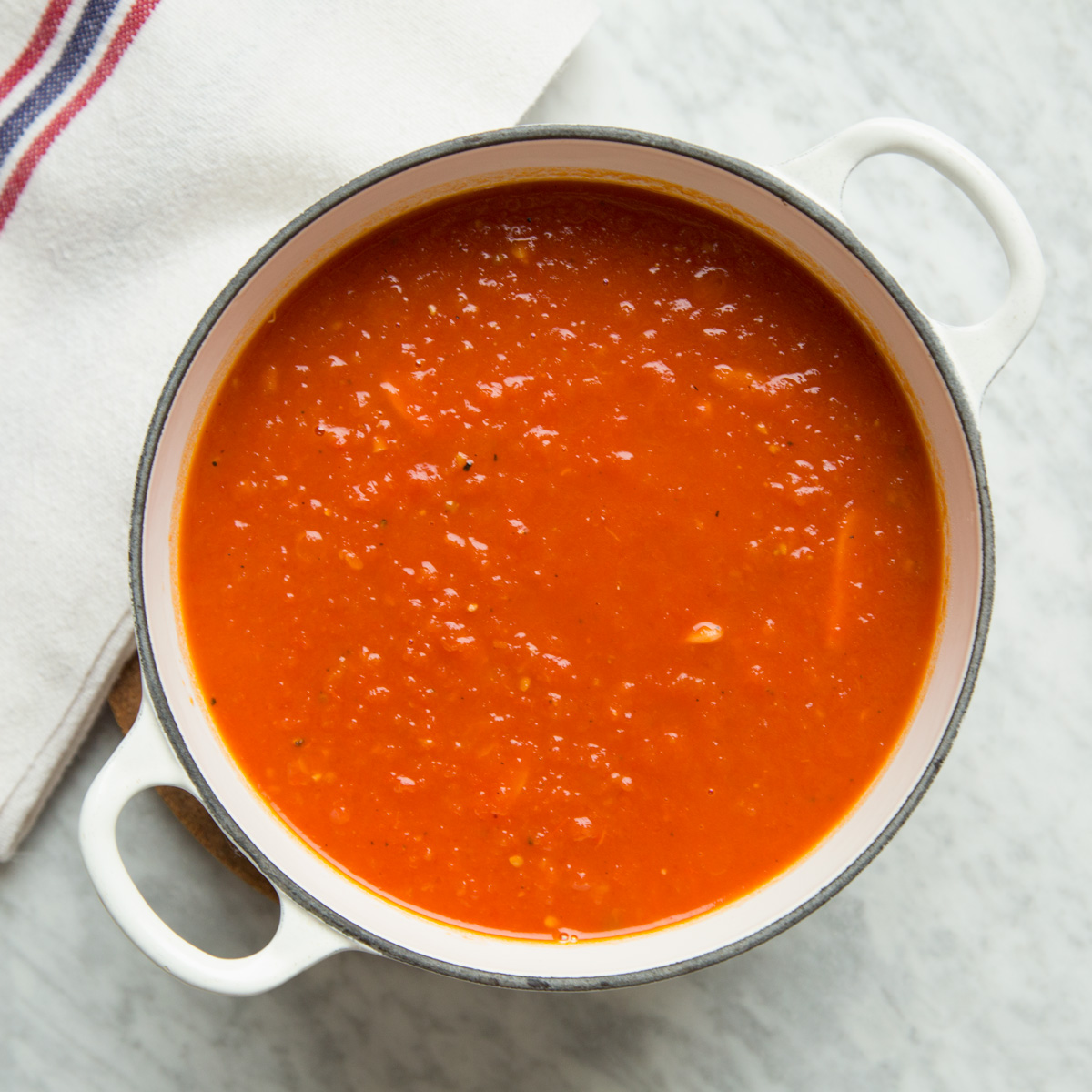 Basic Tomato Sauce from Fresh Tomatoes Recipe - Grace Parisi | Food ...