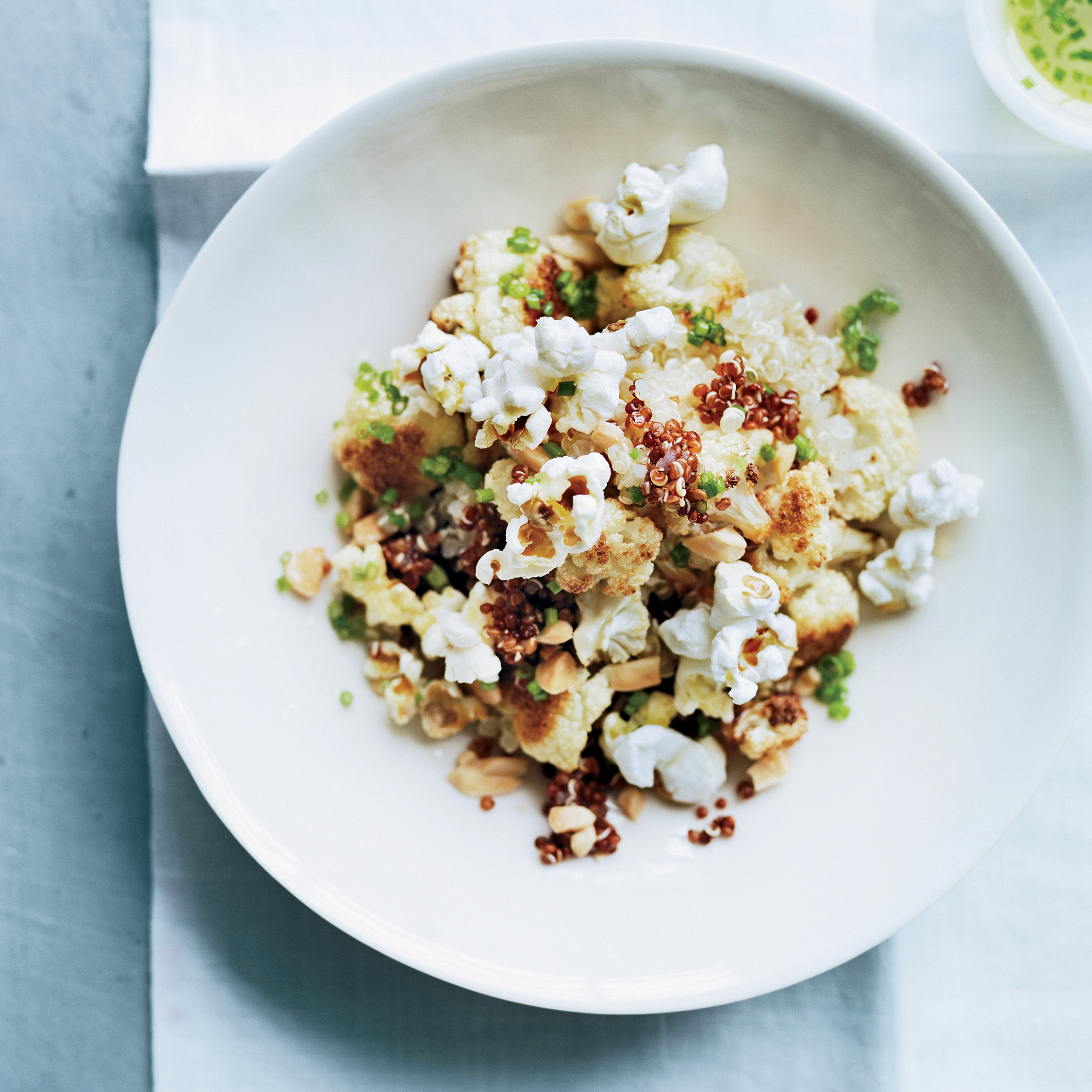 Quinoa and cauliflower salad with popped sorghum recipe for Cuisine quinoa