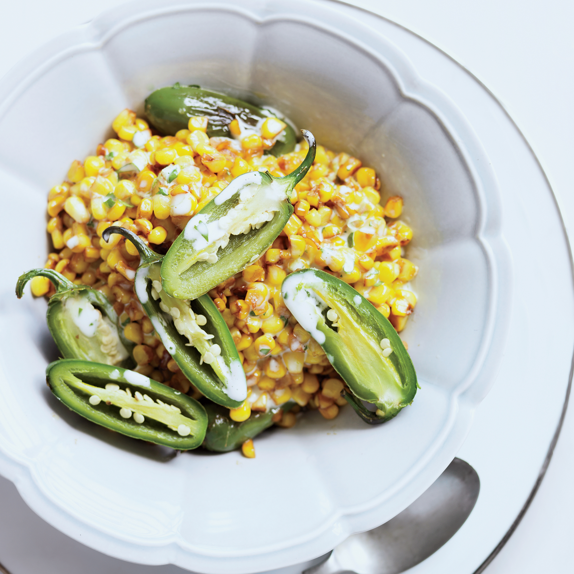Skillet Corn and Peppers with Cilantro-Lime Mayo Recipe ...