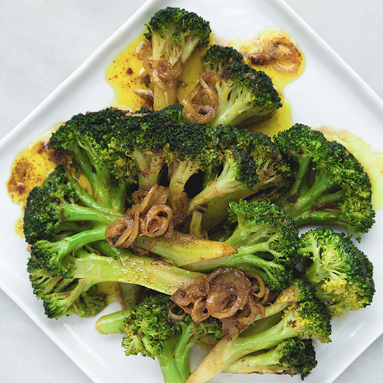 Curried Brown Butter Broccoli and Shallots Recipe - Sarah Bolla | Food ...