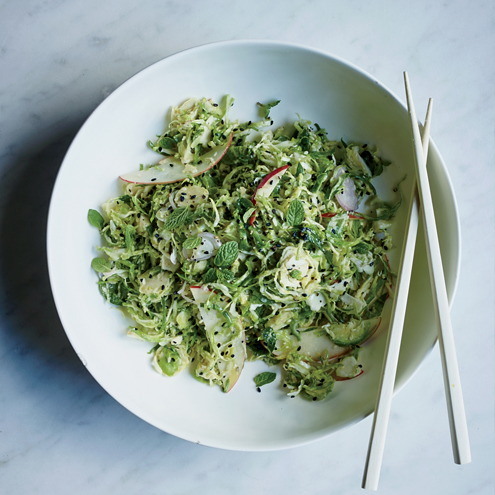 Brussels Sprout Salad with Toasted Sesame Vinaigrette ...