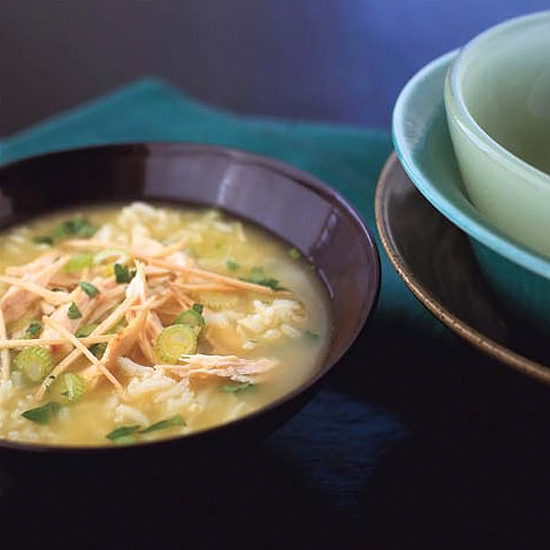asian chicken rice soup recipe