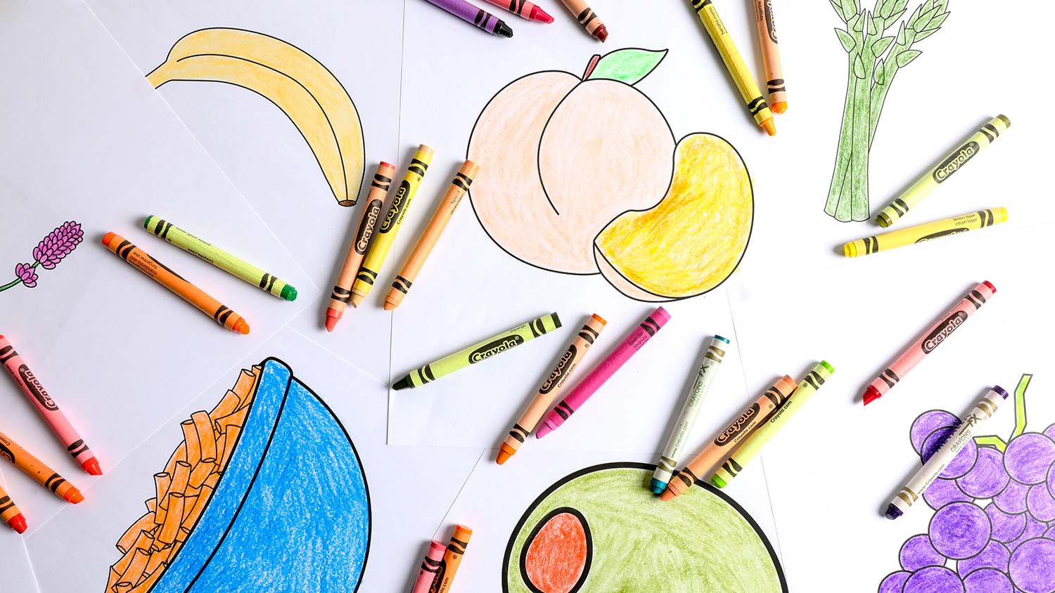 We Compared Crayola Crayon Food Colors to Actual Food
