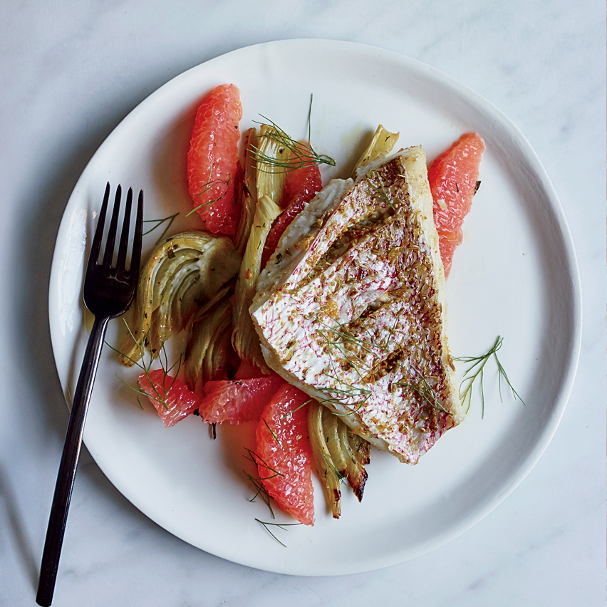 Fennel-and-Grapefruit-Rubbed Snapper Recipe