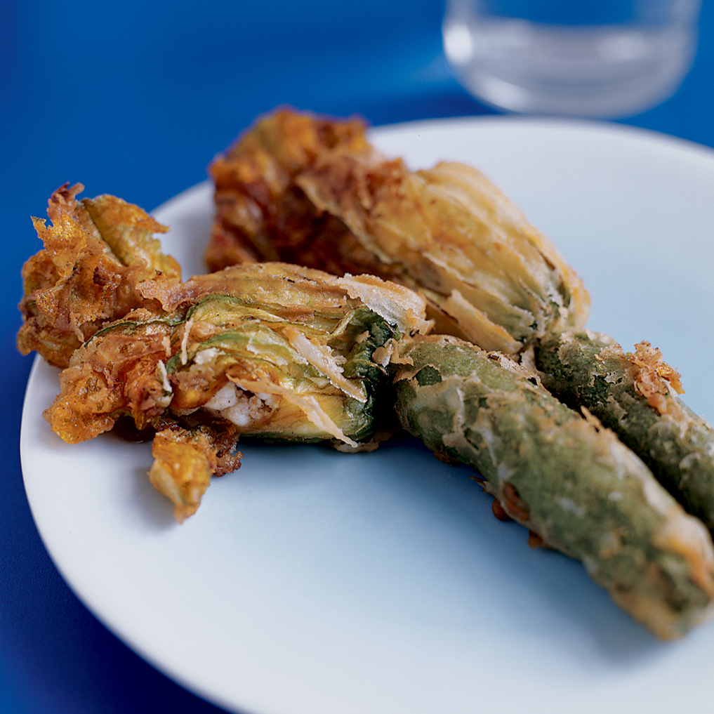 Fried Zucchini Blossoms Recipe Diane Kochilas Food Amp Wine