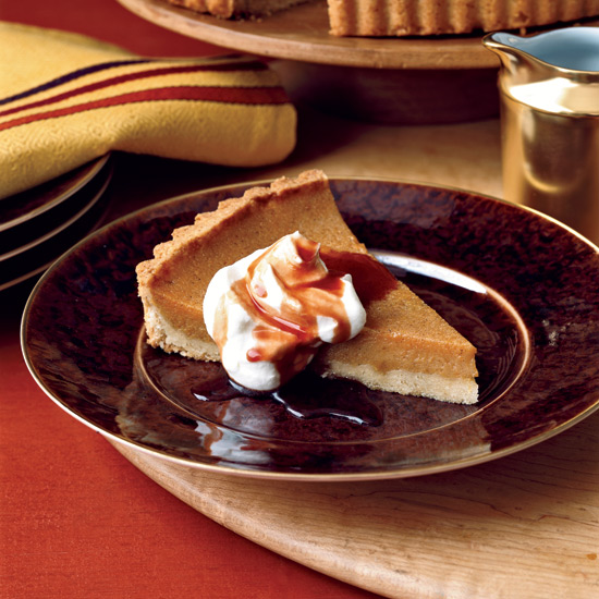 Sweet Potato Tart with Red Wine Caramel