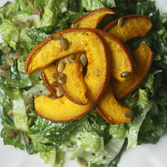 FWX CUMIN ROASTED PUMPKIN SALAD WITH CREAMY CILANTRO DRESSING