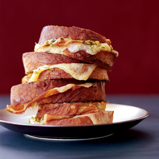FWX GRILLED HAM AND CHEESE WITH TAPANADE