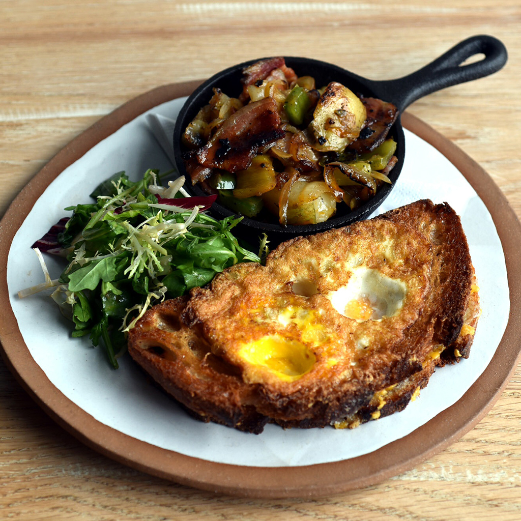 Grilled Cheese Toad In The Hole