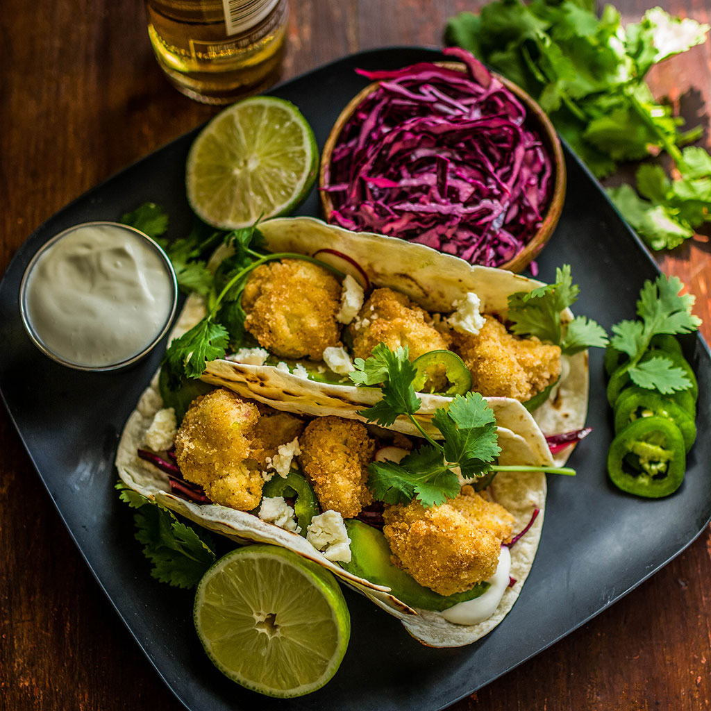 Fried Cauliflower Tacos