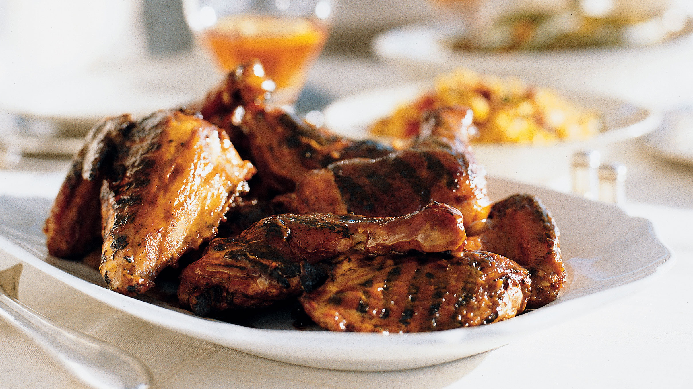 Juicy Grilled Chicken with Sweet Mustard Barbecue Sauce