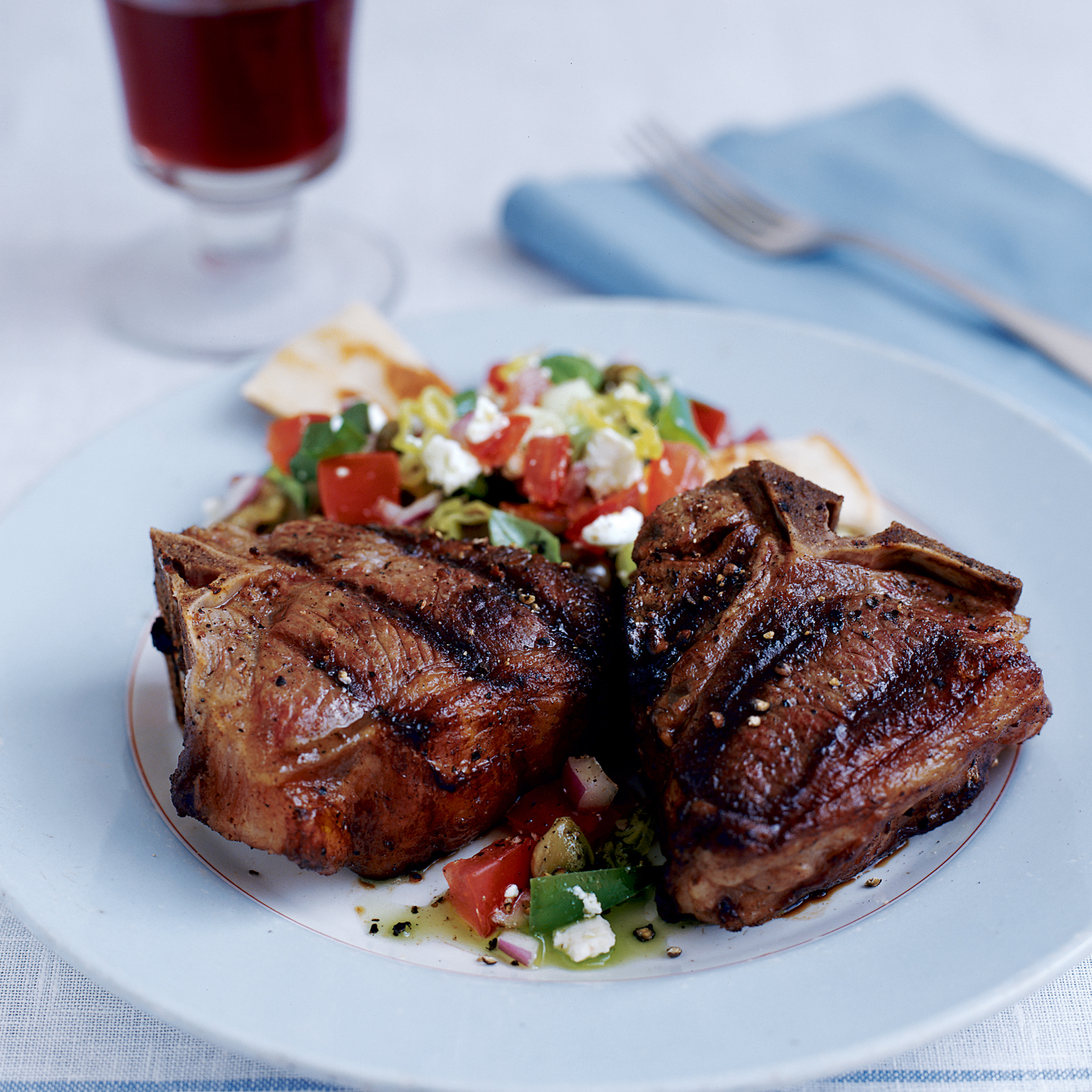 Grilled Ouzo-and-Nutmeg Lamb Chops Recipe