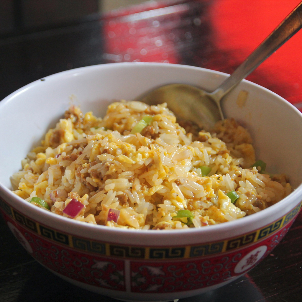 Sausage, Egg and Cheese Fried Rice, Brooklyn, NY