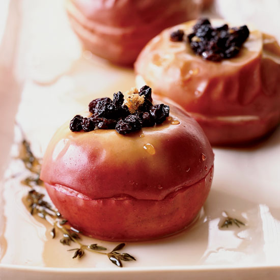 FWX BAKED APPLES WITH CURRANTS AND SAUTERNES