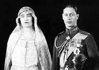 Prince Albert (George VI) and Elizabeth Bowes-Lyon (The Queen Mother), 1923