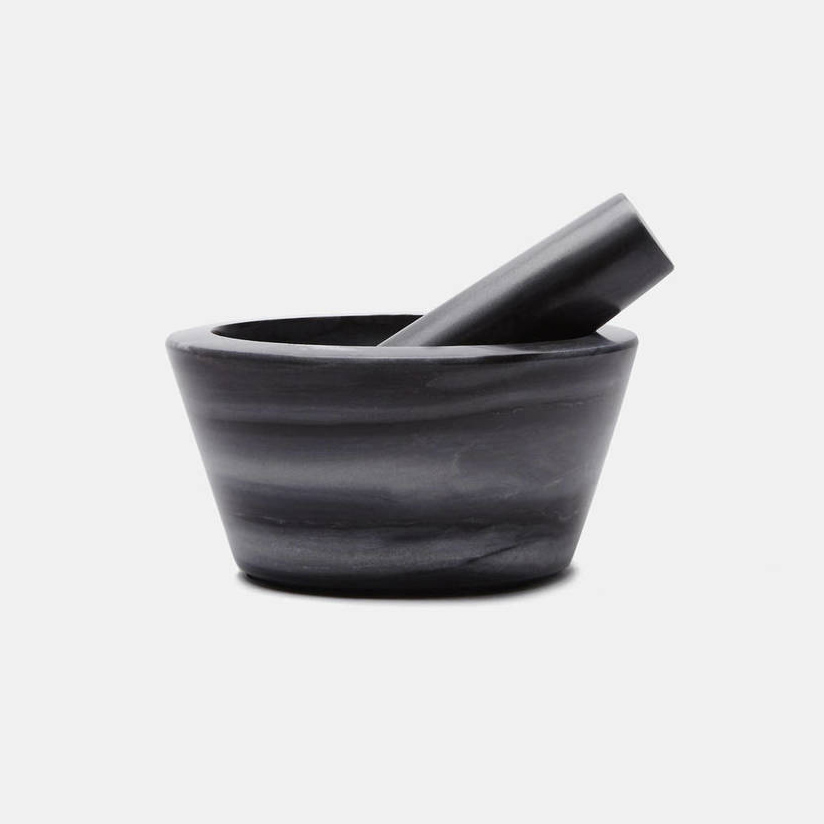 Grey Marble Mortar and Pestle