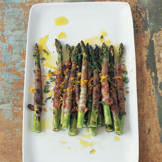Pancetta-Wrapped Asparagus with Citronette