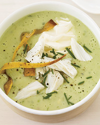 Cool Avocado Soup Topped with Crab for Hot Weather