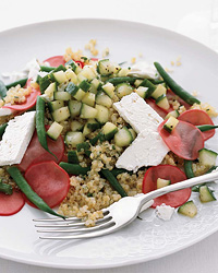 Quinoa Salad with Pickled Radishes and Feta