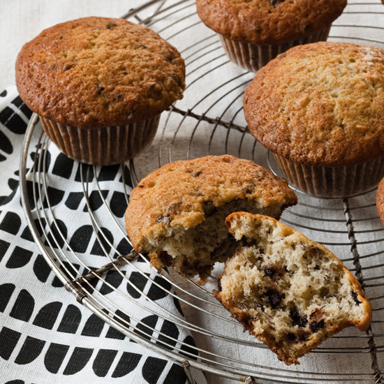 Chocolate Chip and Banana Muffins