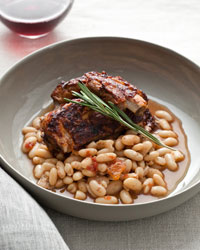 Slow-Cooker Glazed Pork Ribs with White Beans