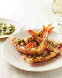 Spicy Grilled Shrimp with Yuzu Kosho Pesto