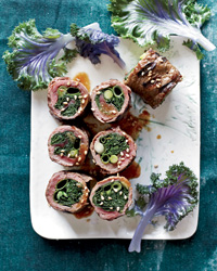 Kale-and-Scallion Negimaki
