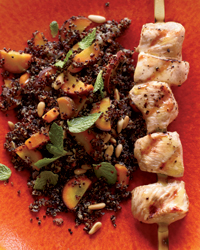 Warm Quinoa Salad with Carrots and Grilled Chicken