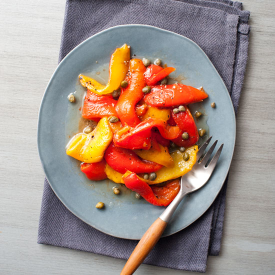 Roasted Peppers with Caper Dressing