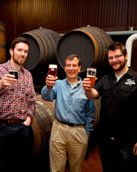 Jim Koch of Sam Adams with brewers from Roc Brewing