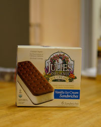 Ice cream sandwich taste test: Julie's