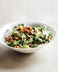 Farro and Green Olive Salad with Walnuts and Raisins