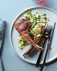 Grilled Lamb Chops with Cucumber Relish