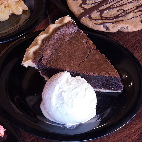 Chocolate Chess Pie; Homemade Ice Cream & Pie Kitchen