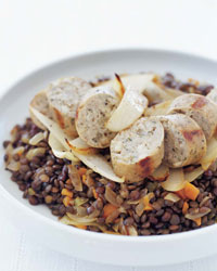 © Tina Rupp / Lentils with Chicken Sausage