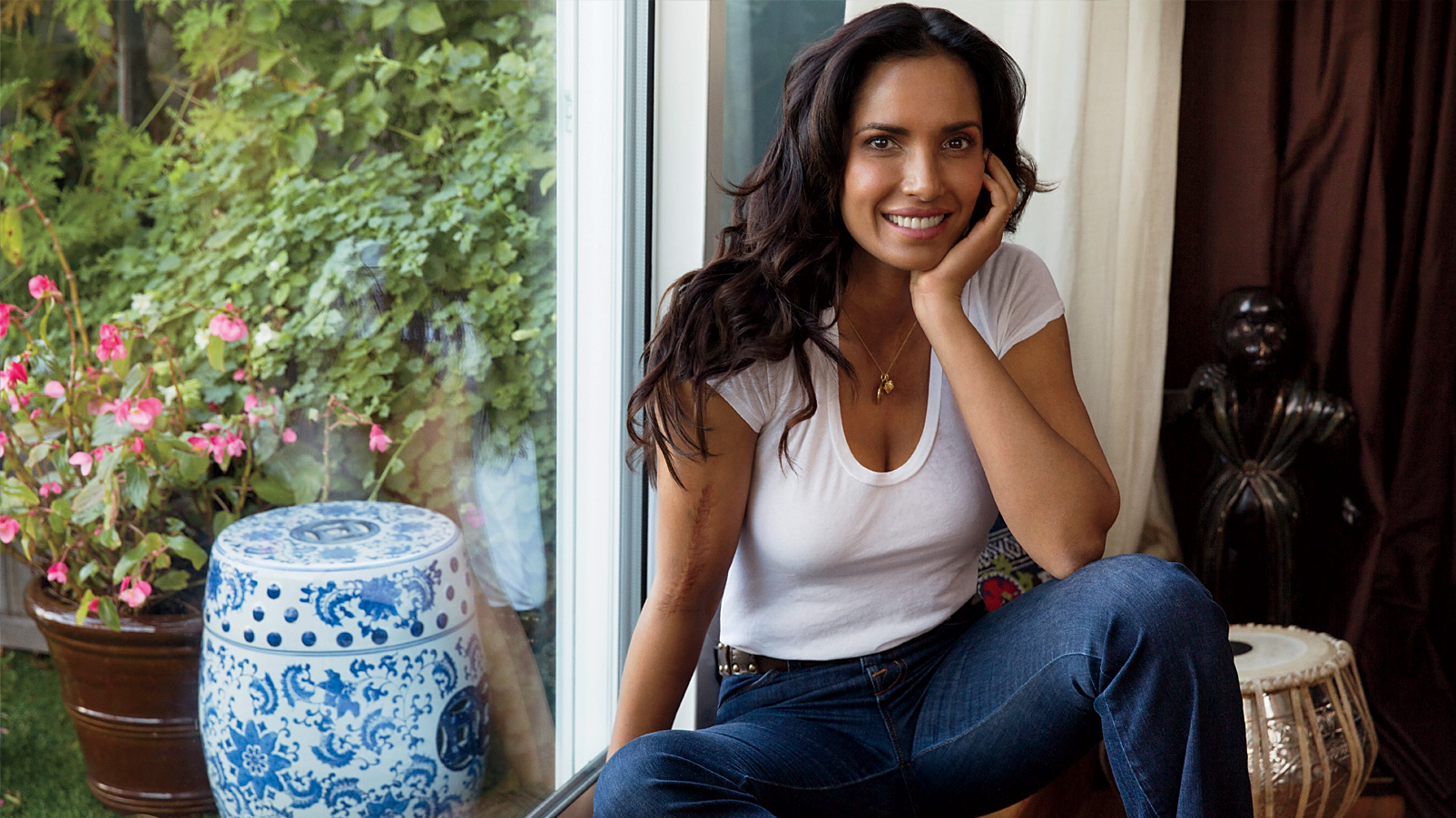 Padma Lakshmi's Thanksgiving Dinner Must-Have and Crispy Fried Chicken Trick