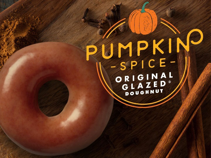 Krispy Kreme selling Pumpkin Spice Glazed Doughnuts for one day